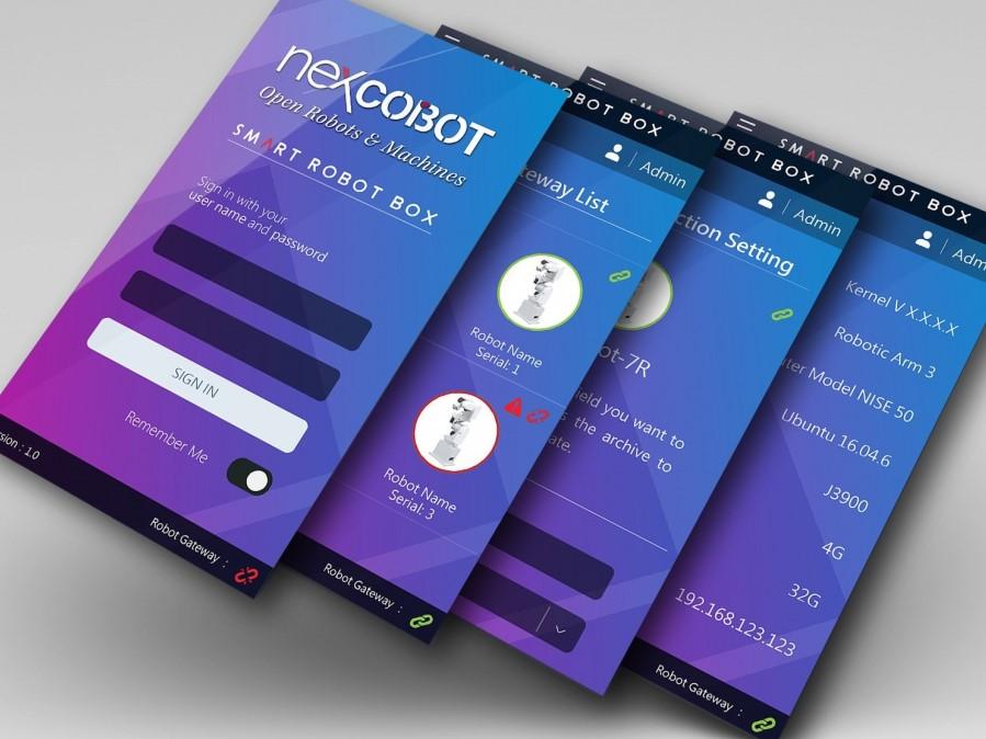 NexCOBOT Smart Robot Box Software Interface Design